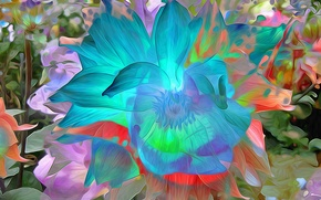 Picture flower, macro, nature, Park, petals, garden, flowerbed