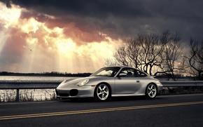 Wallpaper porsche 911 carrera, clouds, Porsche, car