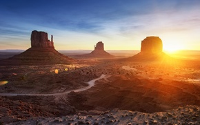 Picture monument valley, mountains, arizona, panorama, desert, valley, landscape