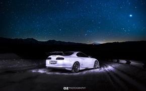 Picture the sky, stars, toyota supra, starry sky, Toyota supra