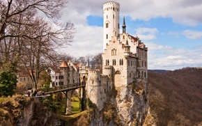 Wallpaper Castle, Germany, the middle ages, Lichtenstein