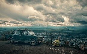 Picture machine, landscape, the city, view, index, cafe, penny, Lada, Pyatigorsk