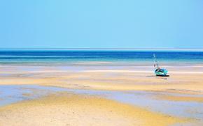 Picture sand, the ocean, boat, tide, Mozambique, Bazaruto Island