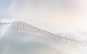 Picture mesh, fabric, white