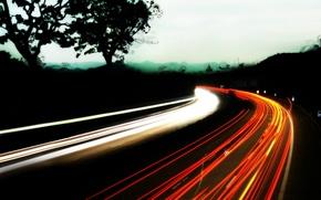 Wallpaper lights, road