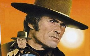 Picture texture, canvas, Western, Clint Eastwood, wild West, Joe Kidd
