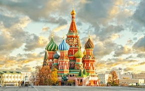 Wallpaper Russia, Moscow, The Kremlin, city, Russia, St. Basil's Cathedral, Moscow, Kremlin