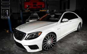 Picture machine, auto, Mercedes, Mercedes, Benz, wheels, drives, auto, Vossen Wheels