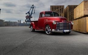 Picture Chevrolet, wheels, 3100, hrome, ´55
