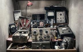 Picture background, scrap, equipment