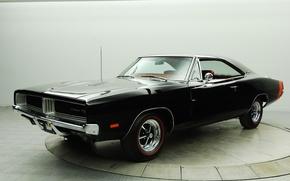Picture retro, black, 1969, muscle car, black, Dodge, classic, dodge, retro, muscle car, charger, classic, the …