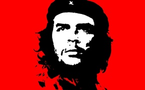 Wallpaper red, Che Guevara, Che Guevara, Cuba, black. revolution