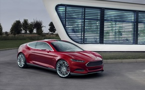 Picture Concept, red, Ford Evos