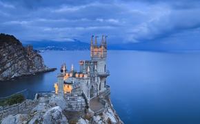Picture coast, the evening, Crimea, Swallow's nest