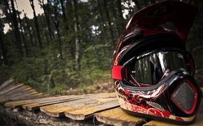 Picture macro, mouth-Biking, motorcycle helmet