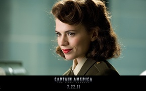 Picture brunette, captain America, Hayley Atwell