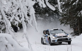 Picture Winter, Auto, Snow, Volkswagen, Race, WRC, Rally, Rally, Polo, S. Ogier, S. Ogier