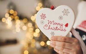 Picture New Year, Christmas, Christmas, heart, decoration, Merry