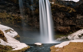 Picture waterfall, Iceland, Seljalandsfoss
