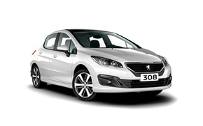 Wallpaper Peugeot, white background, 308, Peugeot