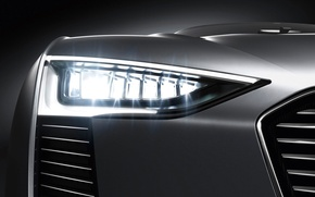 Picture macro, light, Audi, headlight, grille