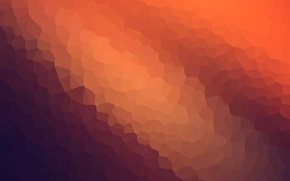 Picture abstract, wallpaper, texture, blue, background, orange, graphic, modiac, crystallize
