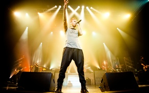 Wallpaper concert, the audience, singer, rnb, matt pokora, the Frenchman, update tour