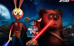 Picture star wars, Winnie The Pooh, parody