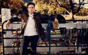 Picture horse, fence, actor, male, Armie Hammer, Armie Hammer, reasons