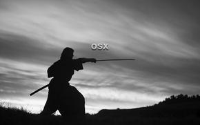 Picture apple, samurai, osx