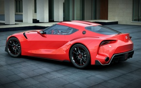 Picture car, red, toyota, render, dangeruss, ft-1