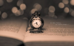 Picture the inscription, watch, book