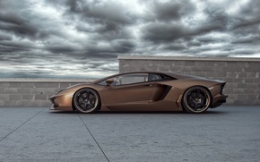 Picture the sky, Lamborghini, supercar, tuning, Wheelsandmore, Lamborghini, Aventador, Rabbioso, Anventador, side view.tuning