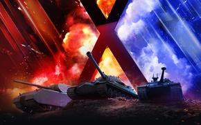Wallpaper WoT, Is-7, Maus, World Of Tanks, Wargaming Net, Bat.-Chatillon 25 t, World of Tanks, Wargaming.net ...