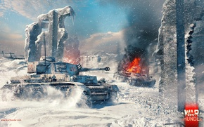 Picture Pz.Kpfw. IV Ausf. G, War Thunder, Gaijin Entertainment, Winter Map, Medium Tank, Stalingrad Factory
