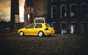 Picture yellow, volkswagen, Golf, golf, Volkswagen, MK4
