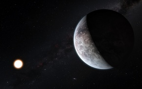 Picture stars, planet, constellation, HD 85512 b