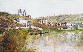 Wallpaper landscape, picture, Claude, Monet, Hills Wetaa