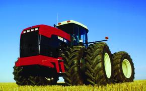 Picture field, Large, wheel, tractor, versatile