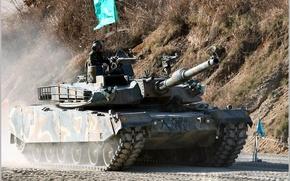 Picture tank, South Korea, Korean, К1А1