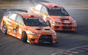 Wallpaper Evolution, Car, Drift, Evo, Mitsubishi, Lancer, Auto, Drift, Skid, Sport