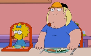 Picture The simpsons, Family guy, Family Guy, The Simpsons, Maggie Simpson, Maggie Simpson, Chris Griffin, Chris …