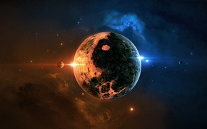 Picture space, planet, stars, space