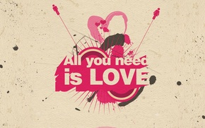 Picture background, romance, figure, All you need is love