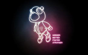Wallpaper stronger, faster, better, Kanye West, Harder, Daft Punk