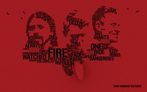 Wallpaper labels, minimalism, group, rock, words, band, them crooked vultures