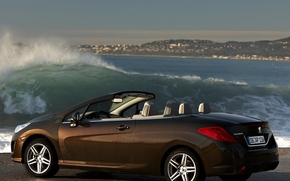 Wallpaper 308, water, peugeot, convertible