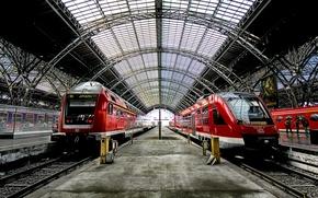 Wallpaper trains, station, station