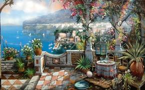 Picture picture, painting, painting, The Dolce Vita In Sorrento