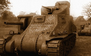 Picture Tank, M3 Lee, Russian, Lend-Lease